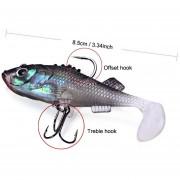 7,6cm Atraer A La Pesca Cebo Suave 7.6cm Fishing Lure Soft Bait-Multicolor.