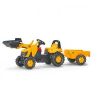 Rolly Toys - trattore JCB con pala movibile e rimorchio - 023837, giallo