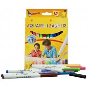 Toys Bhoomi Malinos 12 Piece Aquarell Watercolor Magic Color Pen (Easy to Remove from Skin Paint) 300033 - Made in Germany