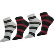 Neska Moda Men and Women Cotton Black Grey 4 Pair Ankle Length Socks
