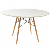 Replica Eames DSW Dining Table-120cm-Black or White Top