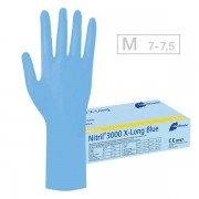 Meditrade Nitril 3000 X-Long Blue Handschuhe M, Pro Packung 100 Stück