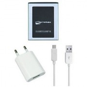 Li Ion Polymer Replacement Battery with Hi Speed USB Travel Charger for Micromax A-121