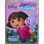Dora The Explorer 64pg Coloring and Activity Book.(Exploring Together). Nickelodeon