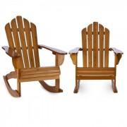 Rushmore 2 Cadeiras de Baloiço para Jardim Estilo Adirondack Castanhas