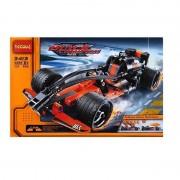 Decool Black Champion Racer hátrahúzós versenyautó építőjáték