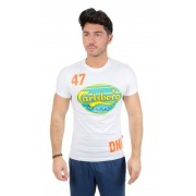 Carlsberg T-Shirt Bollo, Taglia: XXL, Per adulto Uomo, Bianco, CBU2621-BIANCA, IN SALDO!