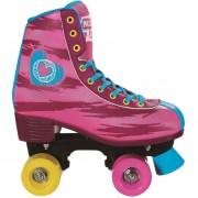 Patines Rush Girl Cuatro ruedas Artístico Corazones-Rosado