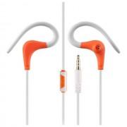 Global Technology Gt Auricolari Originali Hf-Gt Sport Ergonomici Con Supporto Orecchio Jack Orange Per Modelli A Marchio Huawei