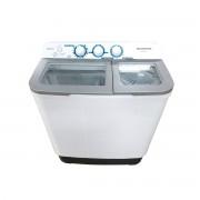 Masina de spalat rufe semiautomata Heinner HSWM-63SL, 6 Kg, 3.6 Kg, Alb/Argintiu