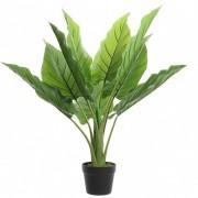 Shoppartners Groene waterplant kunstplant 74 cm in zwarte pot