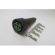 Wtyczka Aspock 5-pin zielona