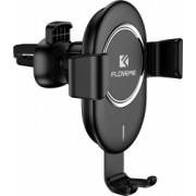Incarcator auto wireless tip suport negru incarcare rapida 10W 2A pana la 6.5 inch rotatie sferica 360 grade FLoveme