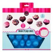 Forma silicon pentru 24 cake pops+120 bete-albastru