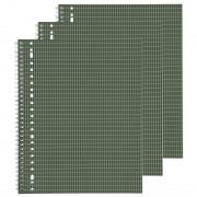 HEMA Collegeblok A4 - Geruit 4 X 8 Mm - 3 Stuks