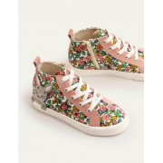 Mini Vintage-Blumenmuster/Häschen Hochgeschnittene Schuhe Damen Boden, 27, Multi