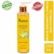 KAZIMA Breathe Bergamot Vanilla Bath Shower Gel Luxury Body Wash 200ml