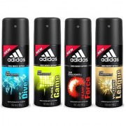 Adidas Deodorants Ice Dive Pure Game Team Force And Victory League Of 150 ML Each (Set of 4) For Men