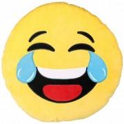 Geen Lachende emoticon kussentje 50 cm Multi