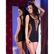 Chilirose CR 4096 Seamless Minidress Black