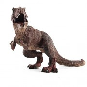 E-SCENERY 12 Inch Big Plastic Dinosaurs Model Action Figures Science Toys Dinosaur One Size Brown Tyrannosaurus