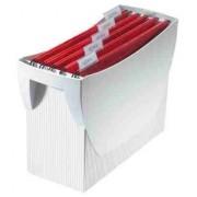 Suport plastic pentru 10 dosare suspendabile, HAN Swing - gri deschis