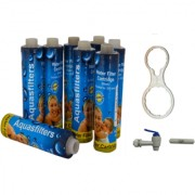 Xisom 9 Aqua filter 4 Pcs With Multi Spanner R.o Tap Fr-450 Used IN All Type Of Water Purifer