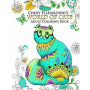 World of Cats: Adult Coloring Book, Paperback/Cindy Elsharouni