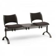 Kovo Praktik RAUMAN Čalouněné lavice SMART, 2-sedák + stolek, černé nohy šedá