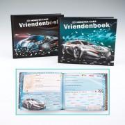 Monster Cars vriendenboek zilveren auto