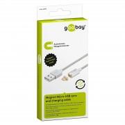 Goobay USB 2.0 A-Micro B mágnes csatlakozós 1,2m White 40912