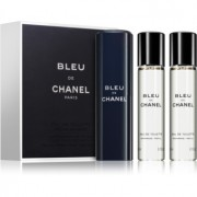 Chanel Bleu de Chanel Eau de Toilette para homens 3x20 ml (1x vap.recarregável + 2 x recarga)