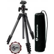 Pachet Manfrotto Advanced Compact rucsac foto + Manfrotto Compact Advanced kit trepied foto cu cap bila si husa