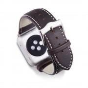 Dbramante1928 Horlogeband dbramante1928 Copenhagen Watch Strap 38mm Silver/Hunter