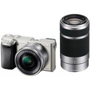 Sony Alpha A6000 + 16-50mm + 55-210mm - Argento - 2 Anni Di Garanzia