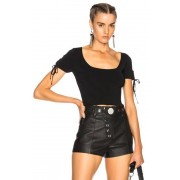 T by Alexander Wang Short Sleeve Cropped Sweater in Black. - size S (also in L,M,XS)