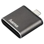 Cititor de carduri Hama OTG USB 3.1 Tip C UHS II SD Gri