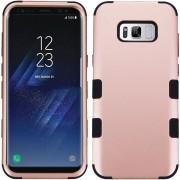 Funda Case Para Samsung S8 Plus Doble Protector De Plástico Super Resistente TUFF Uso Rudo - Rose Gold Con Negro