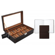 Set Cutie 10 ceasuri Bond Brown by Friedrich si Note Pad Burgundy Hugo Boss