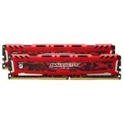 Memorii Crucial Ballistix Sport LT Red DDR4, 2x4GB, 2400 MHz, CL16