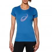 asics Graphic Hardloopshirt korte mouwen Dames blauw XS 2015 Hardloopshirts