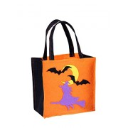 Set Of 3 Halloween Kids Candy Bag Cute Witch Trick Or Treating Candy Bag Orange