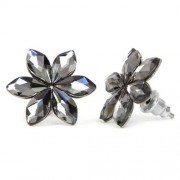 Swarovski® kristályos nemesacél fülbevaló - Silver Night