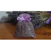 10 sacchetti di organza con lavanda lilla 10x13 cm