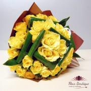 "Buchet 33 Trandafiri Galbeni ""Like Sun"""