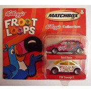 "MATCHBOX 2001 KELLOGGS COLLECTION - ""Froot Loops"" Ford Focus & VW Concept 1"