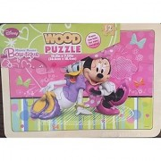 Minnie Mouse Bow-tique 12 pc. Wooden Puzzle- with Minnie and Daisy