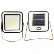 Proiector COB LED 10W Alb Rece Incarcare Panou Solar si USB