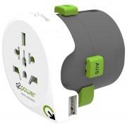 Q2Power QDAPTER Universal USB World Travel Adapter - 10A
