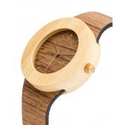 Analog Watch Teak & Bamboo / Hour Markings Watch UPT
